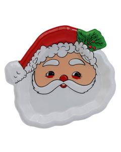 Bandeja plástica con forma de Papá Noel de 30 por 30 centímetros