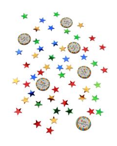 Confetti de Mesa Mixto Feliz Cumpleaños, Puntos Multicolor 15 g