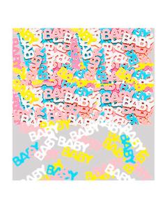 Confetti de mesa con texto de baby