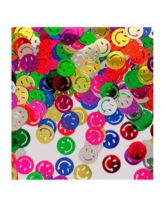 Confetti de mesa en forma de carita feliz colores sutidos