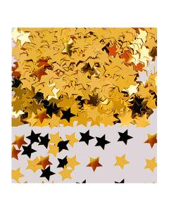 Confetti de mesa en forma estrellas doradas metalizada