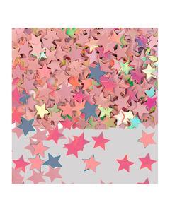 Confetti de mesa en forma estrellas iridiscente metalizada