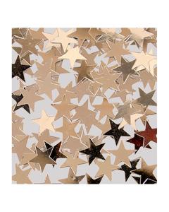 Confetti de mesa en forma estrellas plateadas metalizada