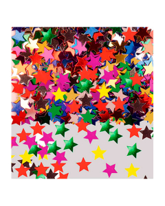 Confetti de mesa estrellas colores surtidos metalizado