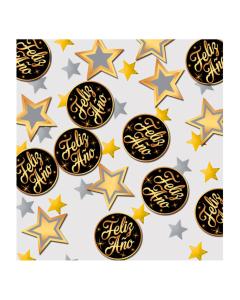 Confetti de mesa mixto Feliz Año por 15 gramos