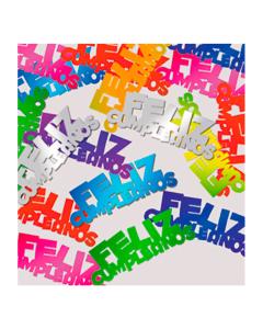 Confetti de mesa Feliz Cumpleaños metalizado