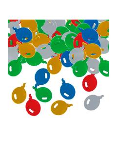 Confetti de mesa globos colores surtidos metalizado