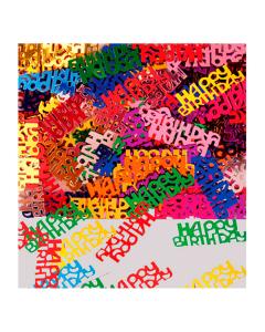 Confetti de mesa Happy Birthday metalizado