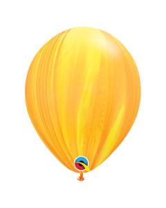 Globo Amarillo Naranja, SuperAgate o Marmolizado 11 pulgadas de Diámetro en Látex x Unidad