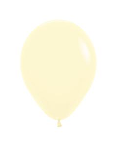 Globo Amarillo Pastel Mate R-12