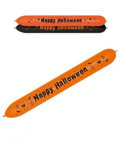Globo banner impreso con Happy Halloween en naranja y negro fashion Lol-660