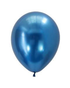 Globo cromado azul o chrome blue de 11 pulgadas redondo en látex