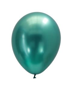 Globo cromado verde o chrome green de 11 pulgadas redondo en látex