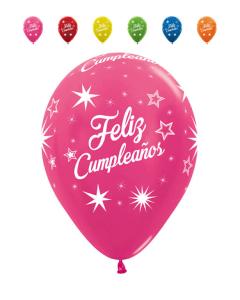 Globo infinity feliz cumpleaños destellos