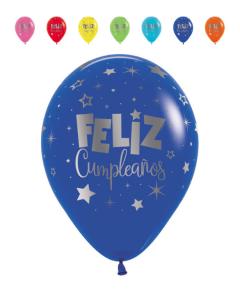 Globo Infinity Feliz Cumpleaños Fantasía, Mink, Tonos Fashion R-12