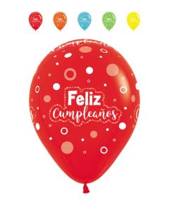 Globo infinity feliz cumpleaños puntos multi