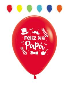Globo Impreso Feliz Día Papá, Sombrero, Surtido Fashion R-12 por Unidad