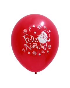 Globo rojo con texto impreso de Feliz Navidad R-12