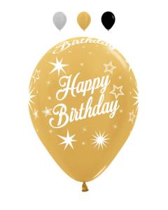 Globo infinity happy birthday destellos