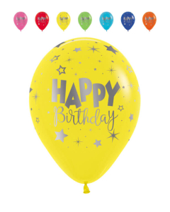 Globo Infinity Happy Birthday Fantasía, Mink, Tonos Fashion R-12