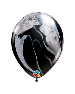 Globo Negro Blanco, SuperAgate o Marmolizado 11 pulgadas de Diámetro en Látex x Unidad