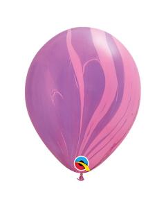 Globo Rosado Violeta, SuperAgate o Marmolizado 11 pulgadas de Diámetro en Látex x Unidad