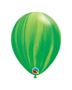 Globo Verde, SuperAgate o Marmolizado 11 pulgadas de Diámetro en Látex x Unidad