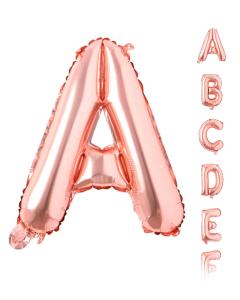 Globos Econo con forma de Letras Dorado Rosa Microfoil 16 pulgadas