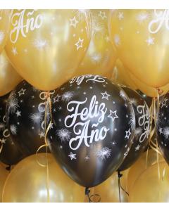 Globos de látex para Año Nuevo inflados con Helio Certificado por unidad