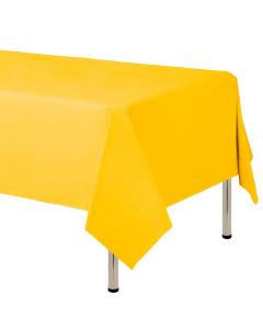 Mantel para decoración de mesa en tela cambre y color amarillo  de 250 por 160 centímetros