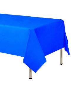 Mantel para decoración de mesa en tela cambre y color azul rey  de 250 por 160 centímetros