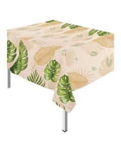Mantel peva hojas tropicales de 137 cm por 250 cm