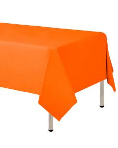 Mantel para decoración de mesa en tela cambre y color naranja  de 250 por 160 centímetros