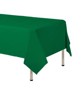 Mantel para decoración de mesa en tela cambre y color verde selva  de 250 por 160 centímetros