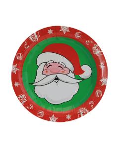 Plato de Papá Noel, de 7 pulgadas de diámetro en cartón