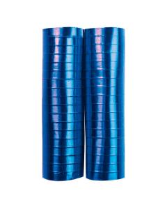 Serpentina azul metal papel 4 metros por 2 rollos