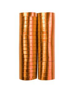 Serpentina cobre metal papel 4 metros por 2 rollos