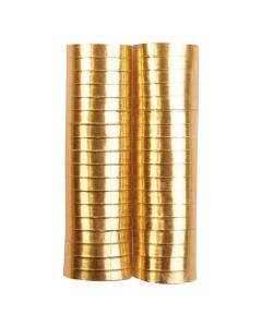 Serpentina dorada metal papel 4 metros por 2 rollos