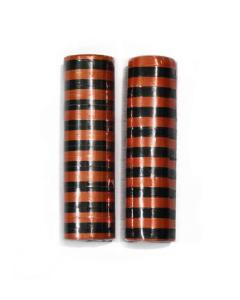 Serpentinas metalizadas por dos rollos en naranja y negro