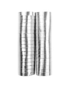 Serpentina plateada metal papel 4 metros por 2 rollos