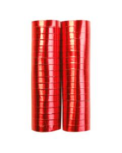 Serpentina roja metal papel 4 metros por 2 rollos