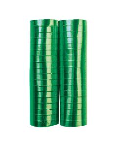 Serpentina verde metal papel 4 metros por 2 rollos