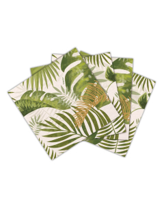 Servilletas hojas tropicales de 16 unidades