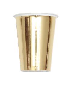 Vaso Dorado 7 oz Plástico