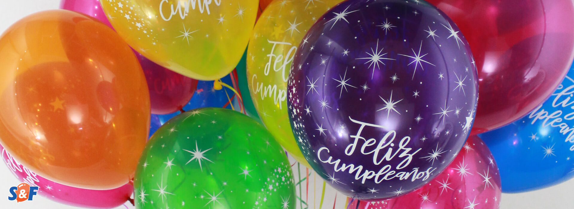 Globos de látex y más para celebrar